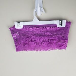 SO Intimates & Sleepwear - SO | Purple Floral Lace Bandeau Bralette